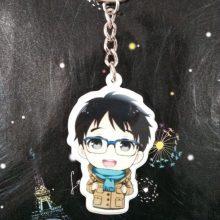Fancy&Fantasy Hot Anime YURI!!! on ICE Keychain Victor Nikiforov Yuri Katsuki Pendant Keyring Cosplay Phone Bag Pendant keychain