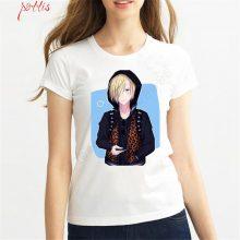 2018 Women Anime T-Shirt Fashion Yuri On Ice T-Shirt