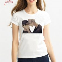 2018 Yuri On Ice T-shirt Plisetsky Cosplay Anime Short Sleeve Women T-shirt